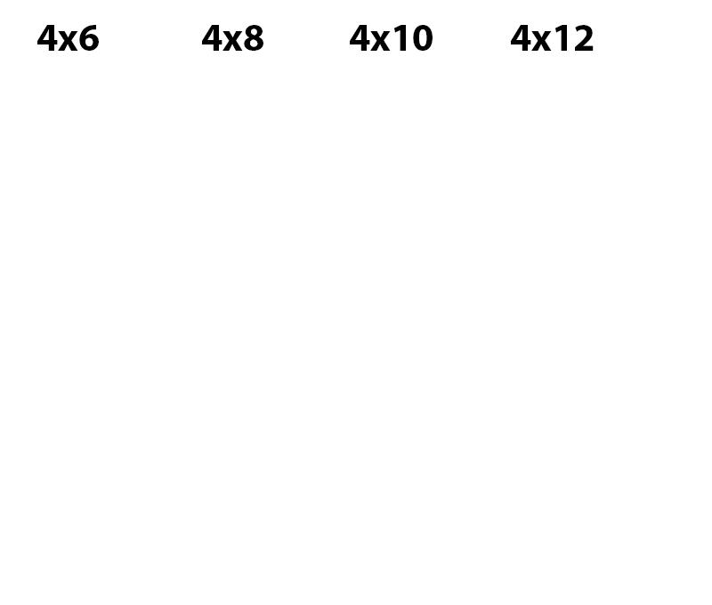 Rental Mat Sizes